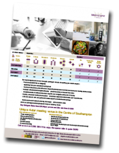Mercure Southampton Centre Dolphin Hotel Meeting Room Factsheets