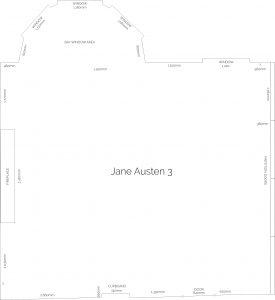 Jane Austen Suite floor plan for the Mercure Southampton Centre Dolphin Hotel