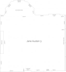 Jane Austen Suite floor plan for the Mercure Southampton Centre Dolphin Hotel