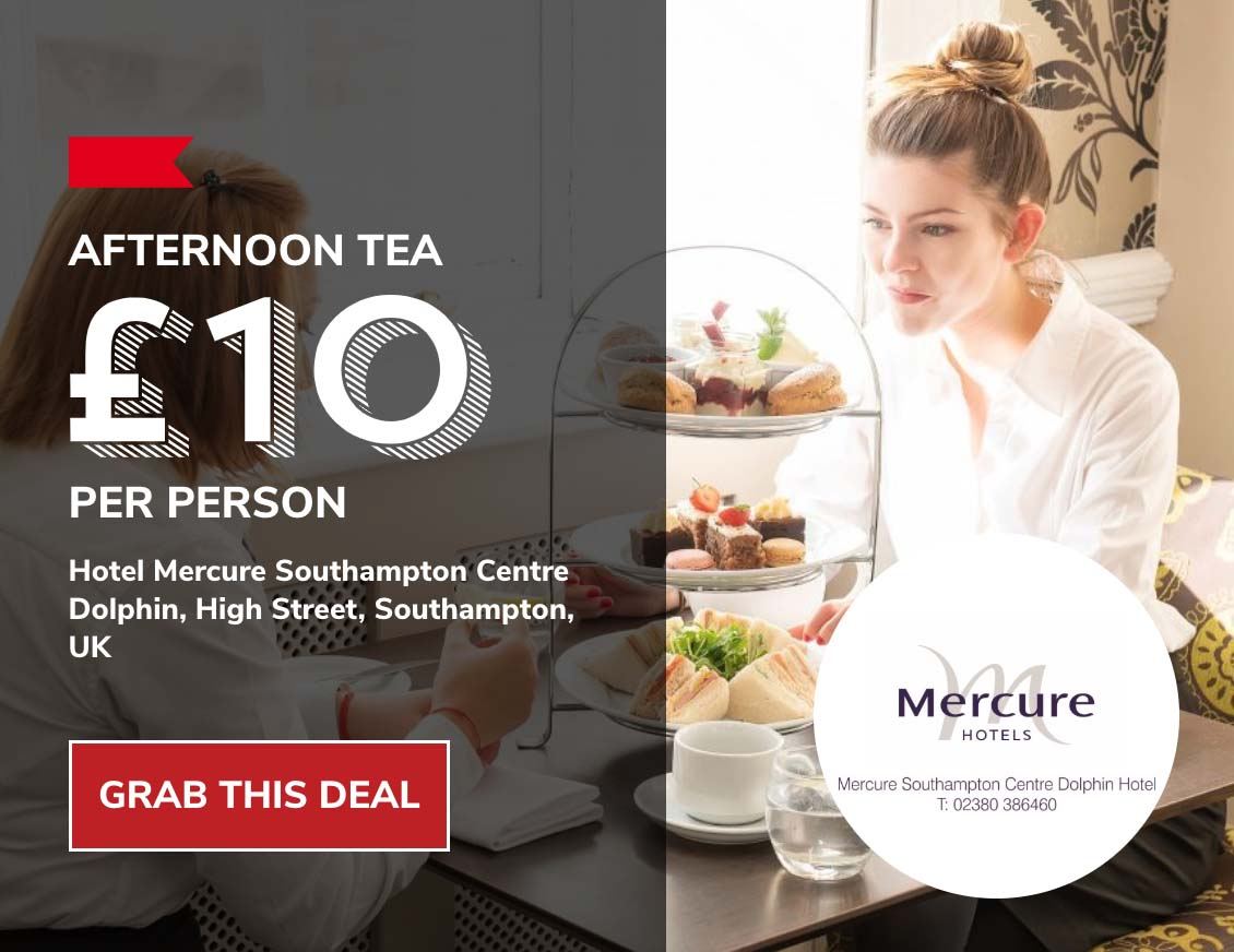 Afternoon tea offer from the Dolphin Hotel Southampton