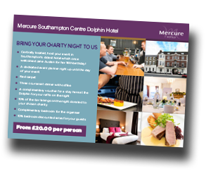 Charity Venues in Southampton Mercure Southampton Centre Dolphin Hotel