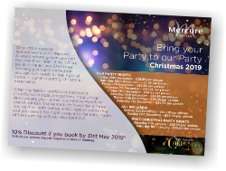 Christmas Party Night Postcard for The Dolphin Hotel Southampton